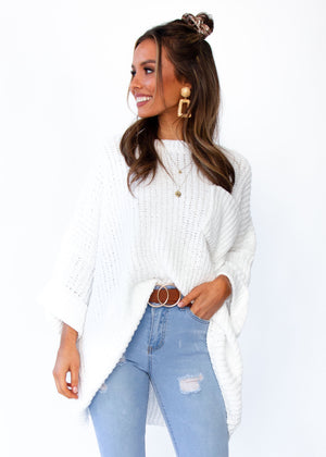 Women's Love Letter Sweater - White