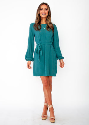 Social Butterfly Shift Dress - Teal