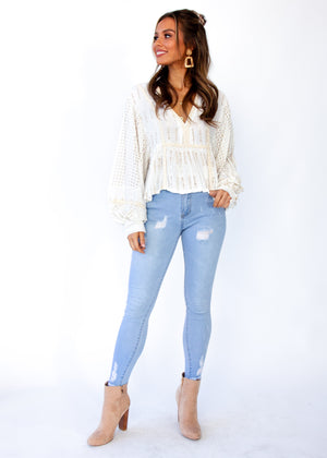Sunday Embroidered Blouse - Royal
