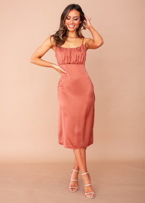 Bambina Midi Dress - Copper