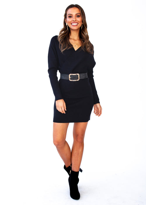 Nerina Knit Dress - Black