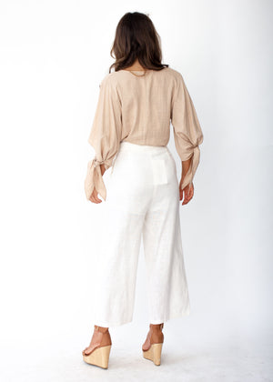 Next To Me Blouse - Sand
