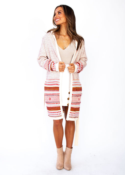 Loyalty Hooded Cardigan - Cream