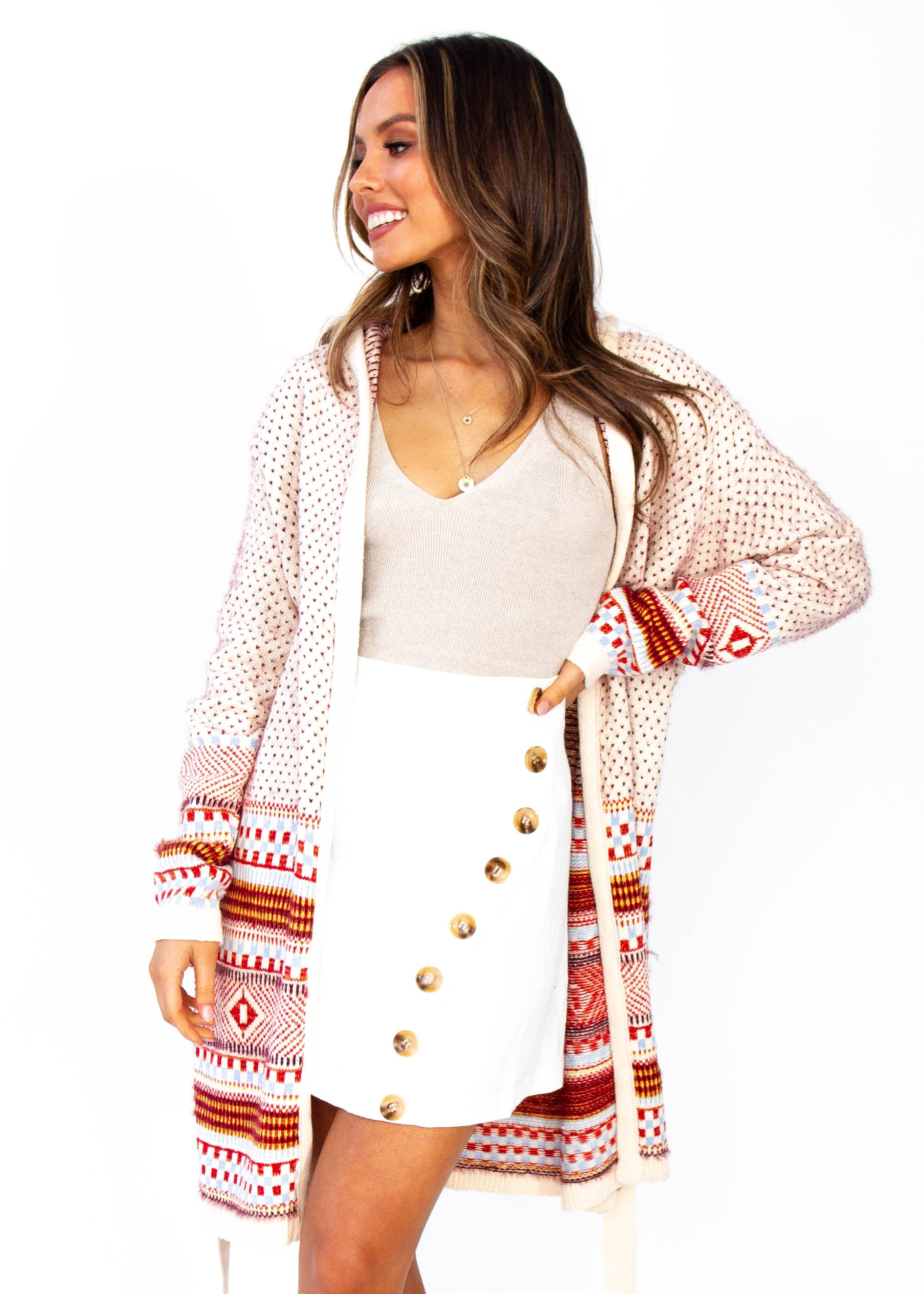 Women's Loyalty Hooded Cardigan - Cream
