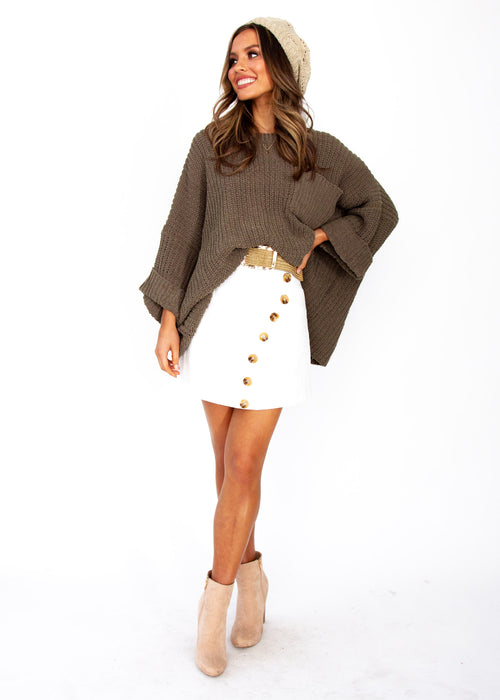 Women's Love Letter Sweater - Khaki
