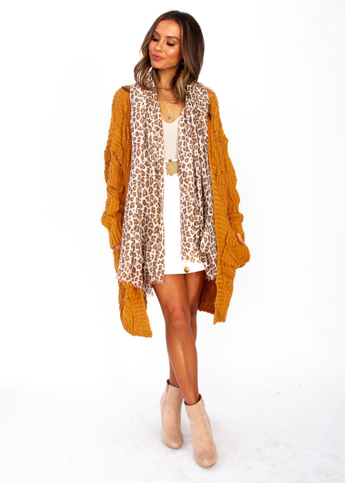 Women's Sweet Fortitude Cardigan - Mustard