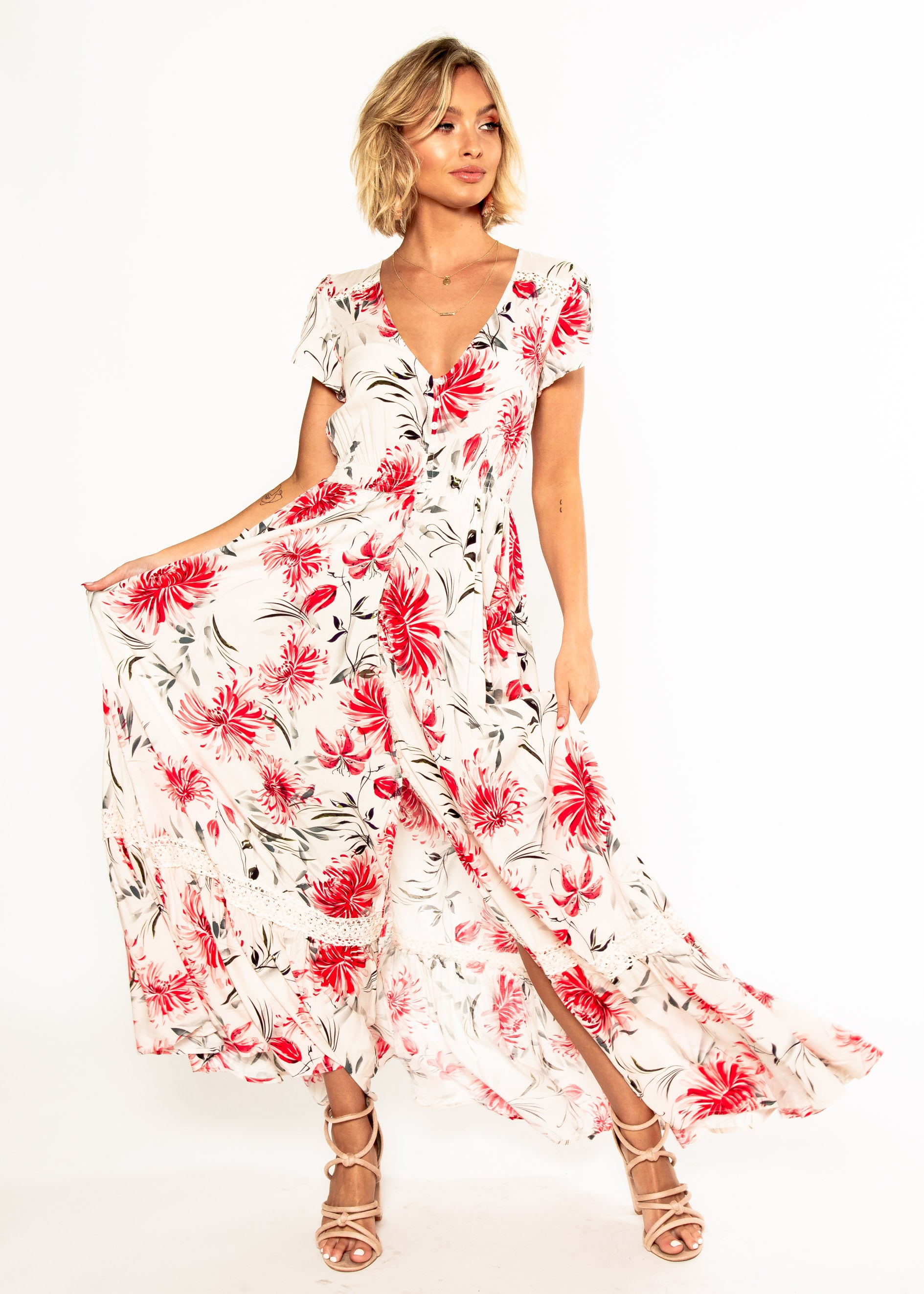 Carmen Maxi Dress - Tabitha – Gingham and Heels 6fc617c0e