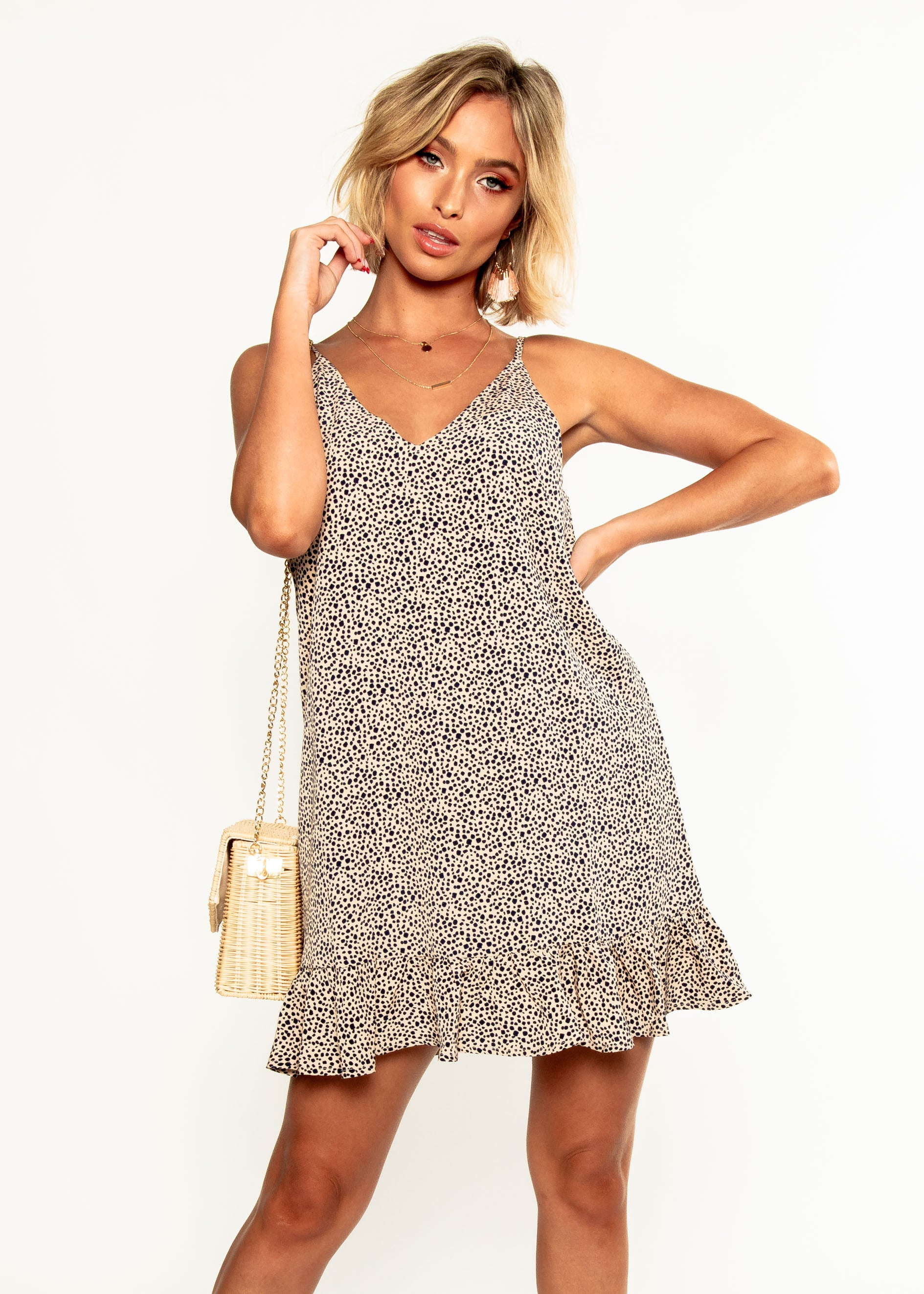 Caterina Swing Dress - Nude Spot