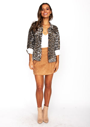 Young & Reckless Jacket - Leopard