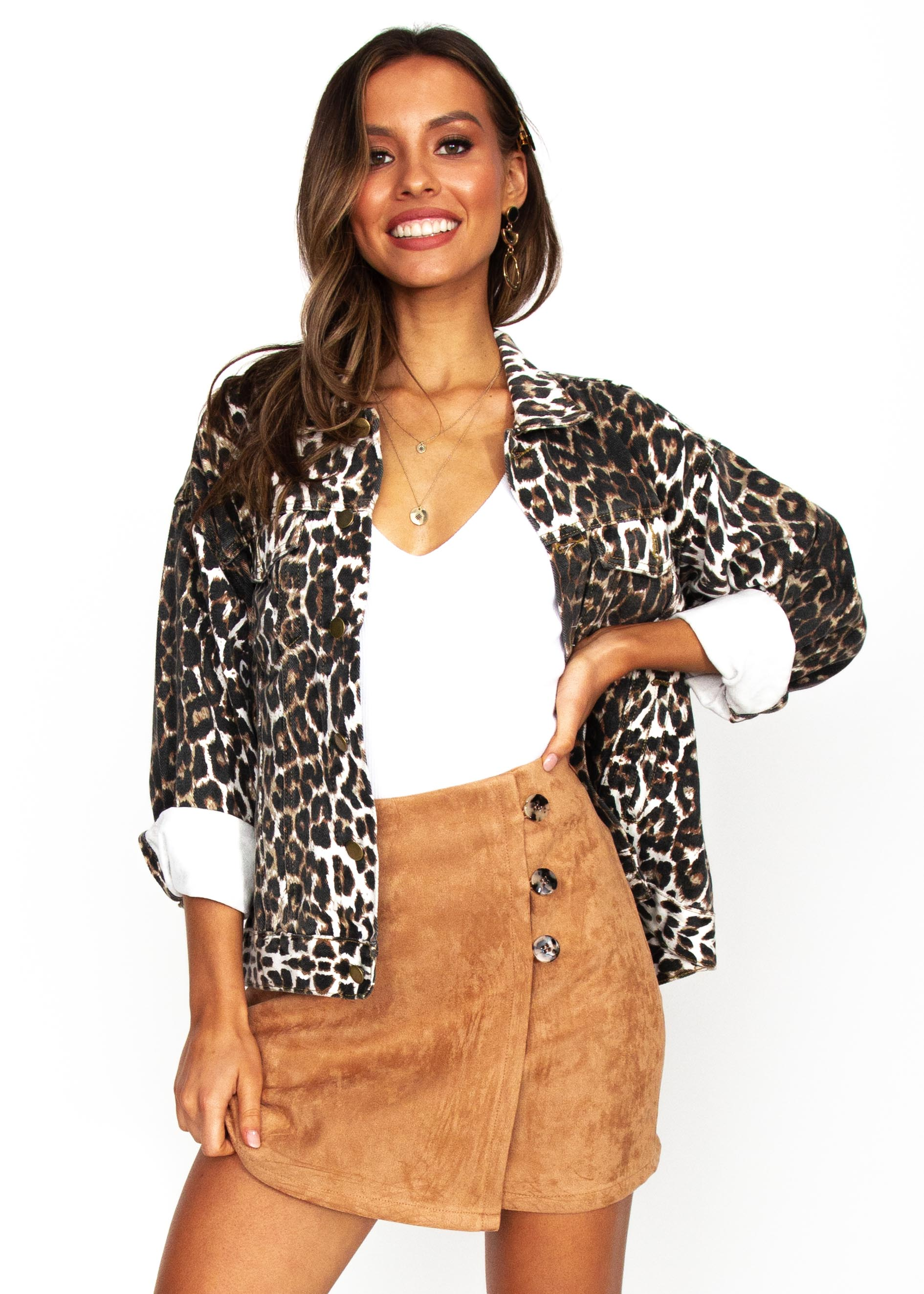 Women's Young & Reckless Jacket - Leopard
