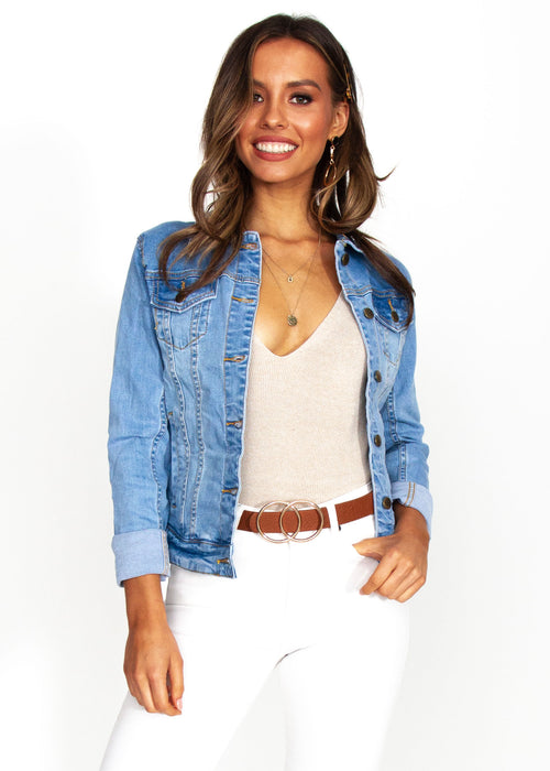 Women's Selina Denim Jacket - Mid Blue