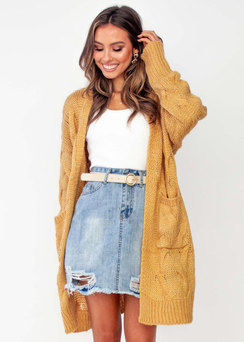 Little Miss Sunshine Cardigan - Mustard