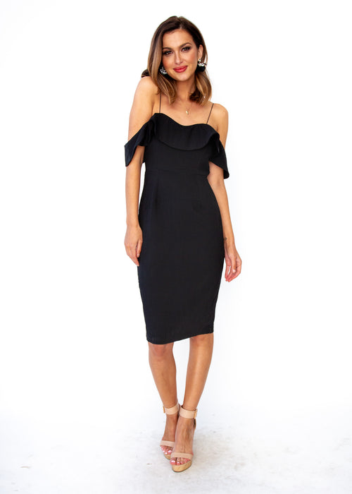 Stay Forever Midi Dress - Black