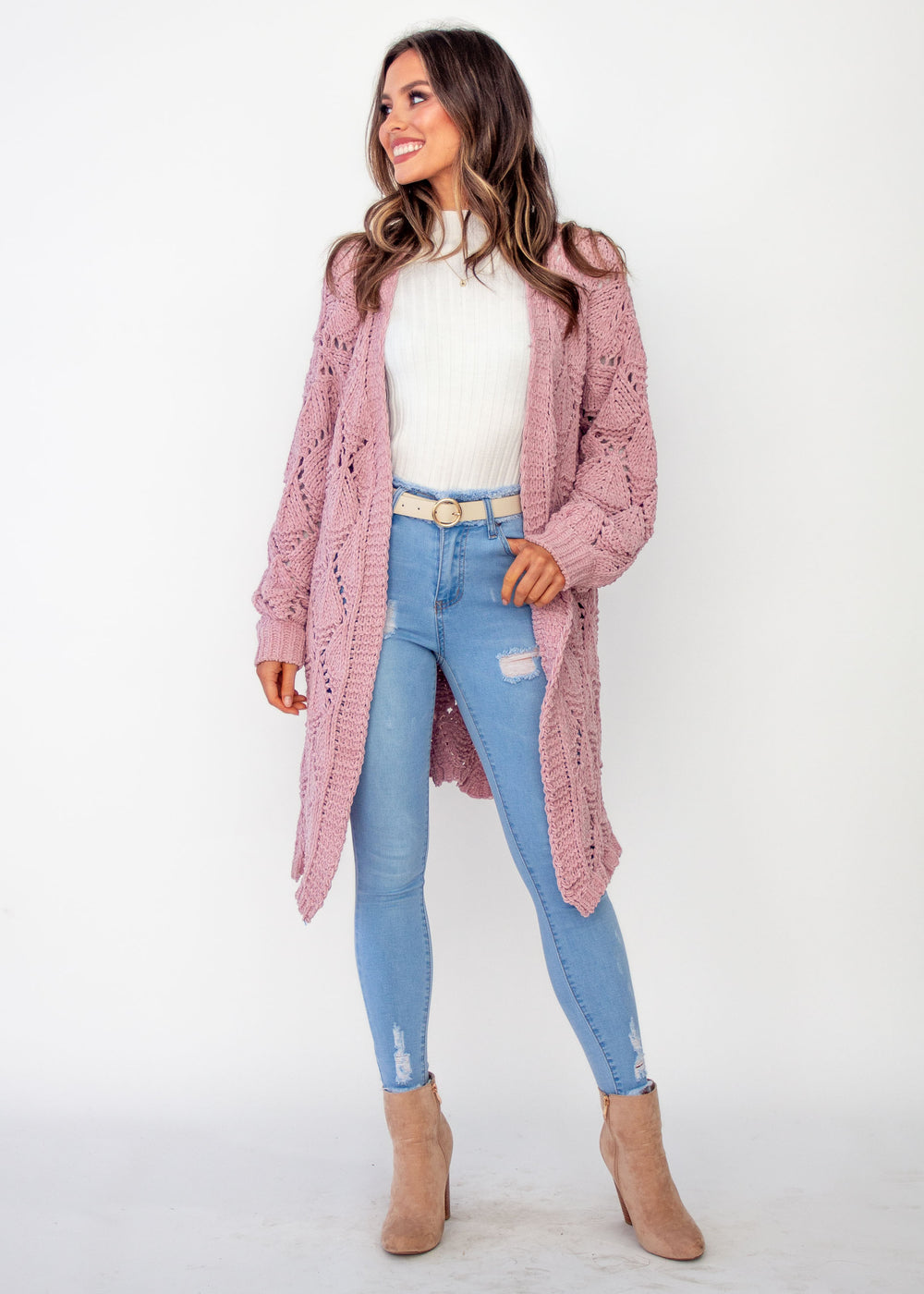 Women's Malibu Sunset Cardigan - Blush