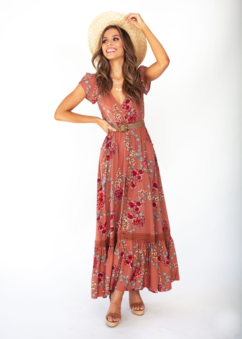 Women's Carmen Maxi Dress - Dulcie - Jaase