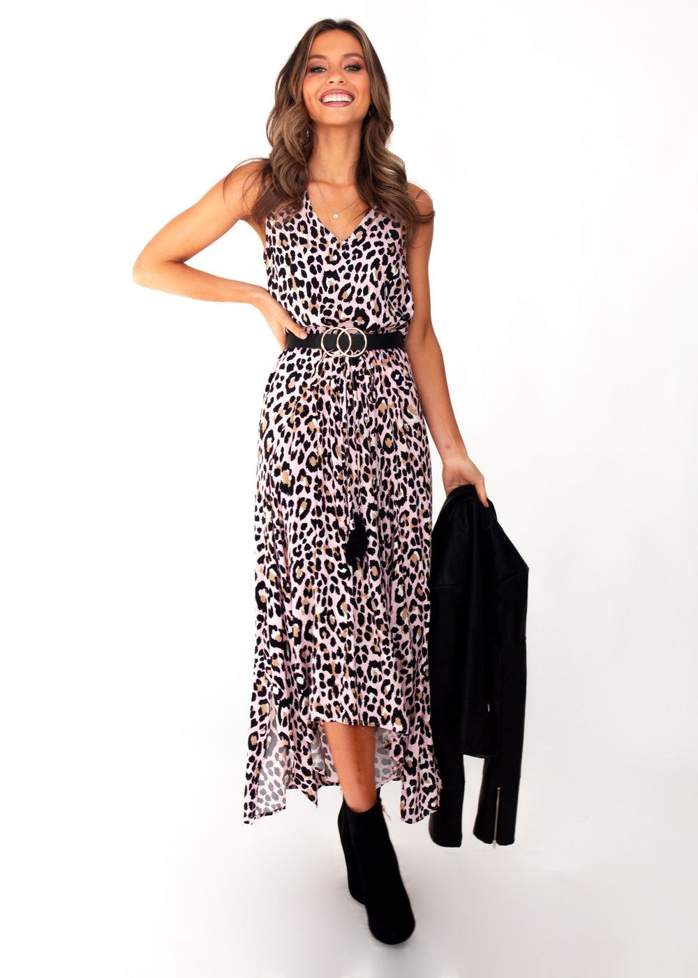 Women's Kaycee Maxi Dress	- Blush Leopard Print