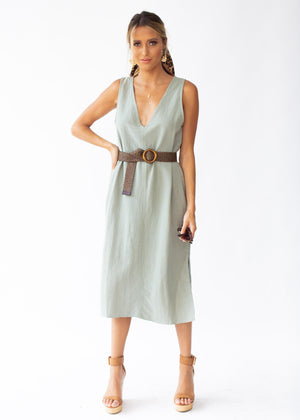 Flynn Midi Dress - Khaki