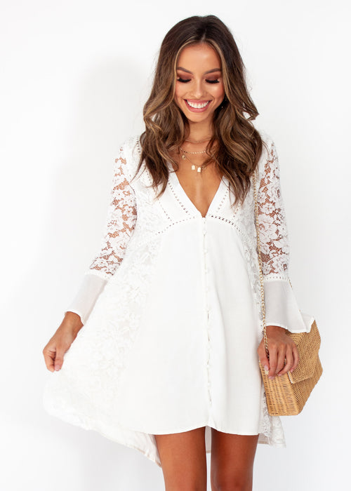 Woman's Sagittarius Lace Dress - White
