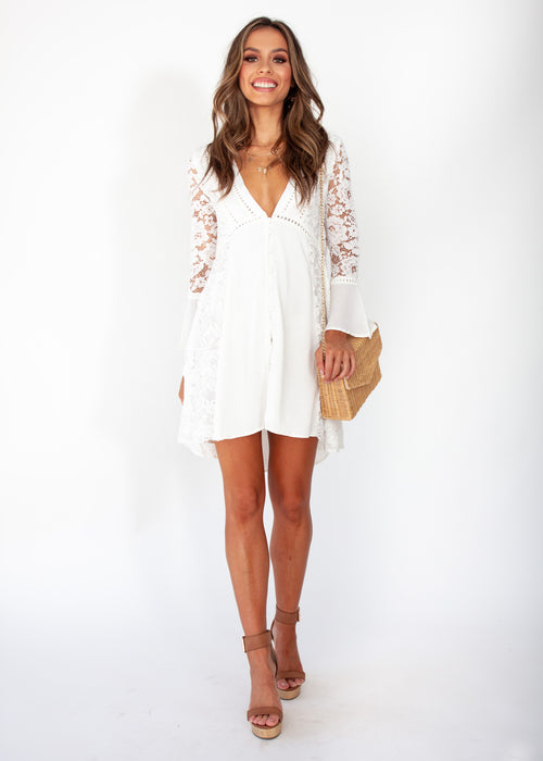 Sagittarius Lace Dress - White