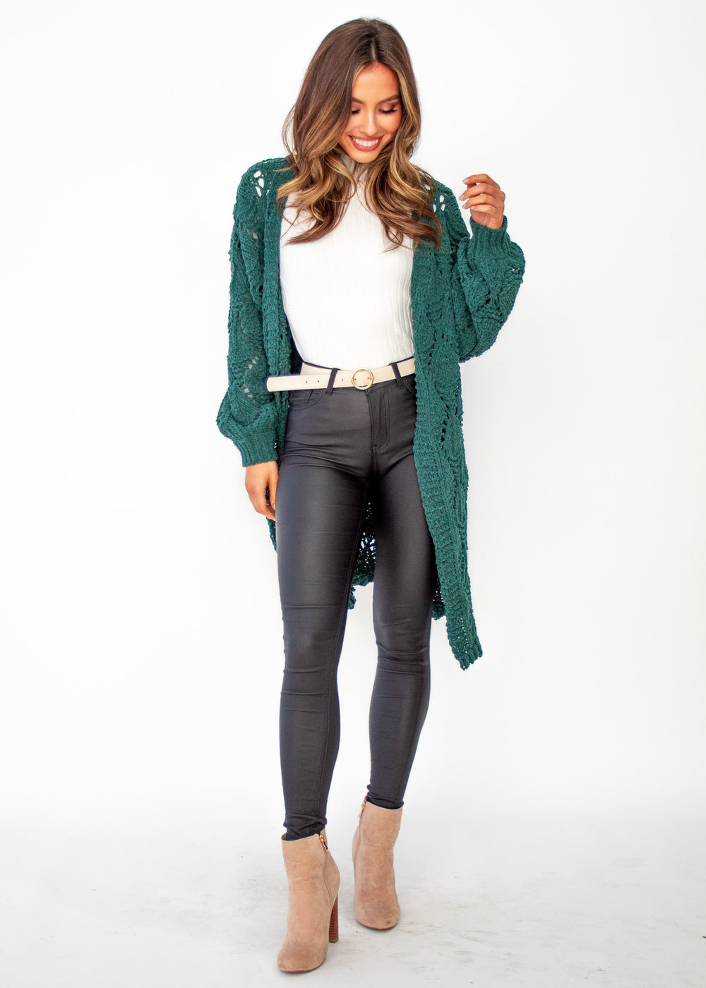 Women's Malibu Sunset Cardigan - Emerald