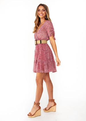 Casablanca Swing Dress - Wine Floral