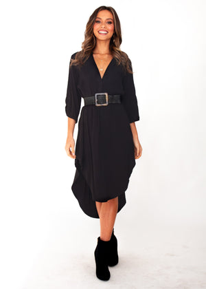 Women's Life With You Tunic Midi Dress - Black