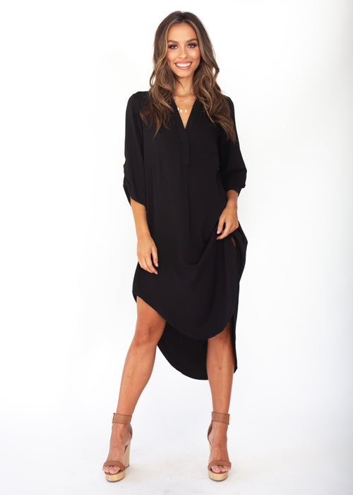 Life With You Tunic Midi - Black Dress