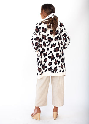 Better Than Ever Cardigan - Cream Leopard