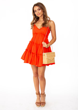 Pippa Swing Dress - Red