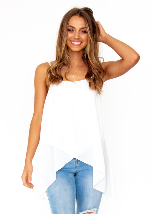 Women's Sefina Asymmetrical Cami - White