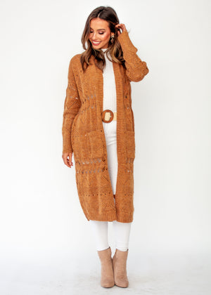 Women's Spectacle Cardigan - Camel