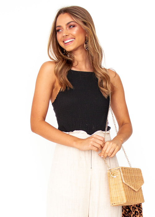Women's Cecilia Crop Top - Black