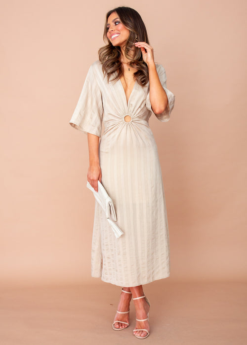 Women's J'adore Midi Dress - Beige