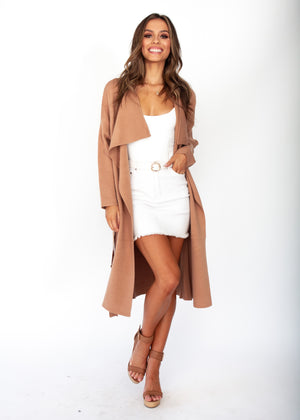 Virgo Knit Coat - Tan