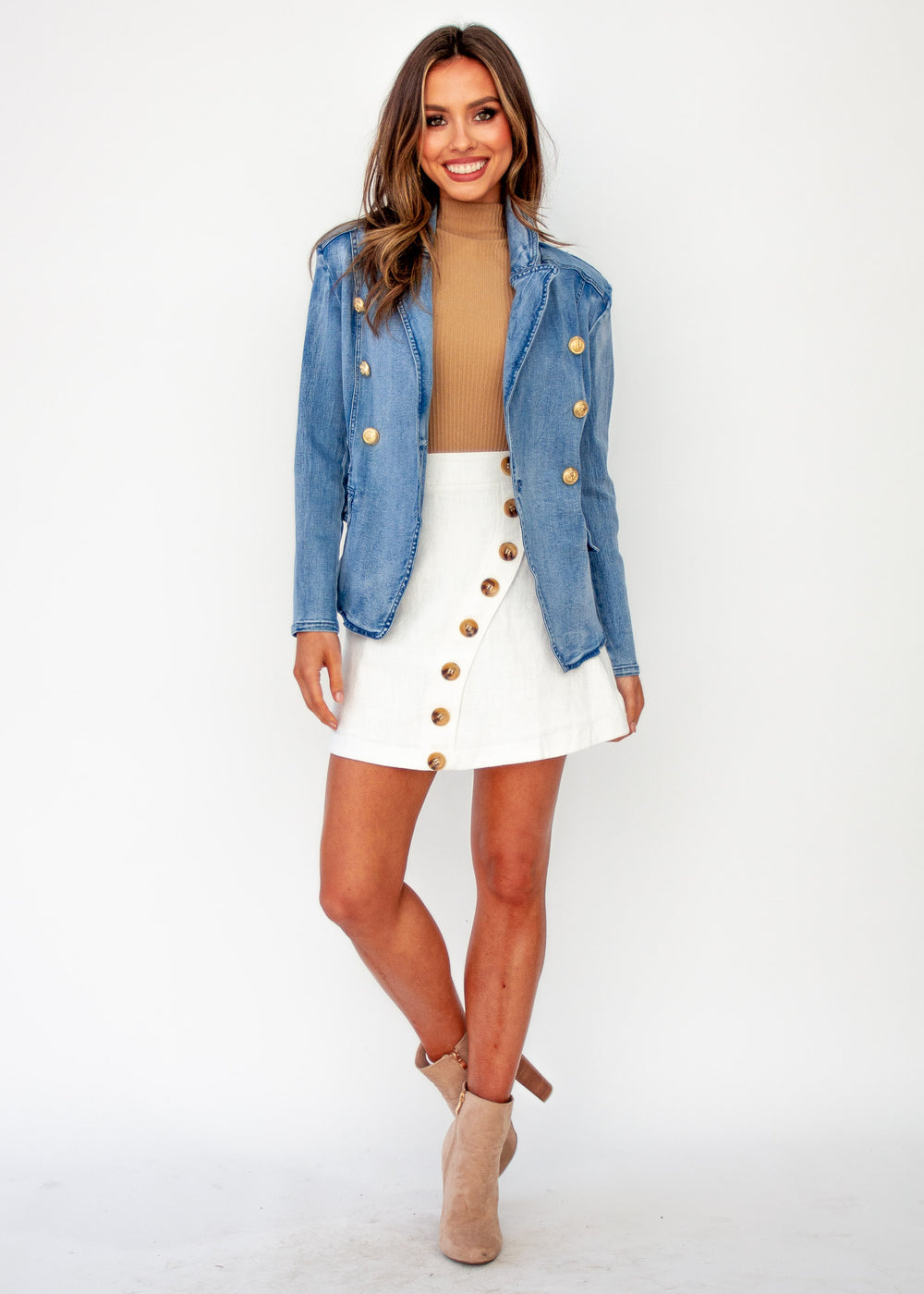 Women's Think Quick Denim Jacket - Faded Blue