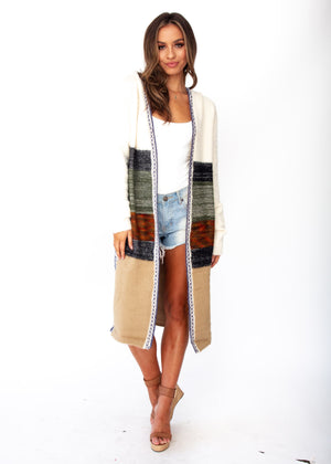 Yoli Hooded Cardigan - Cream