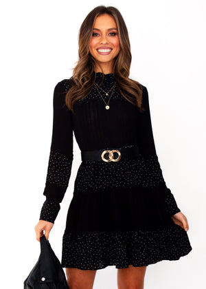Women's Amalia Tunic Dress - Black Spot Print