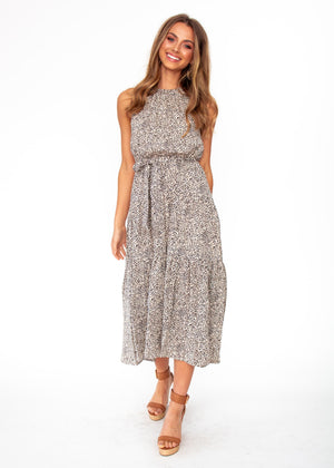 Solstace Midi Dress - Vanilla Bean