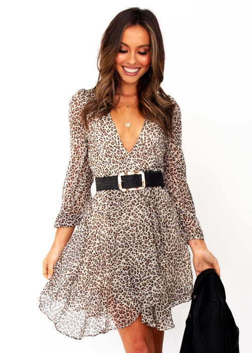 Women's Sansa Dress - Leopard