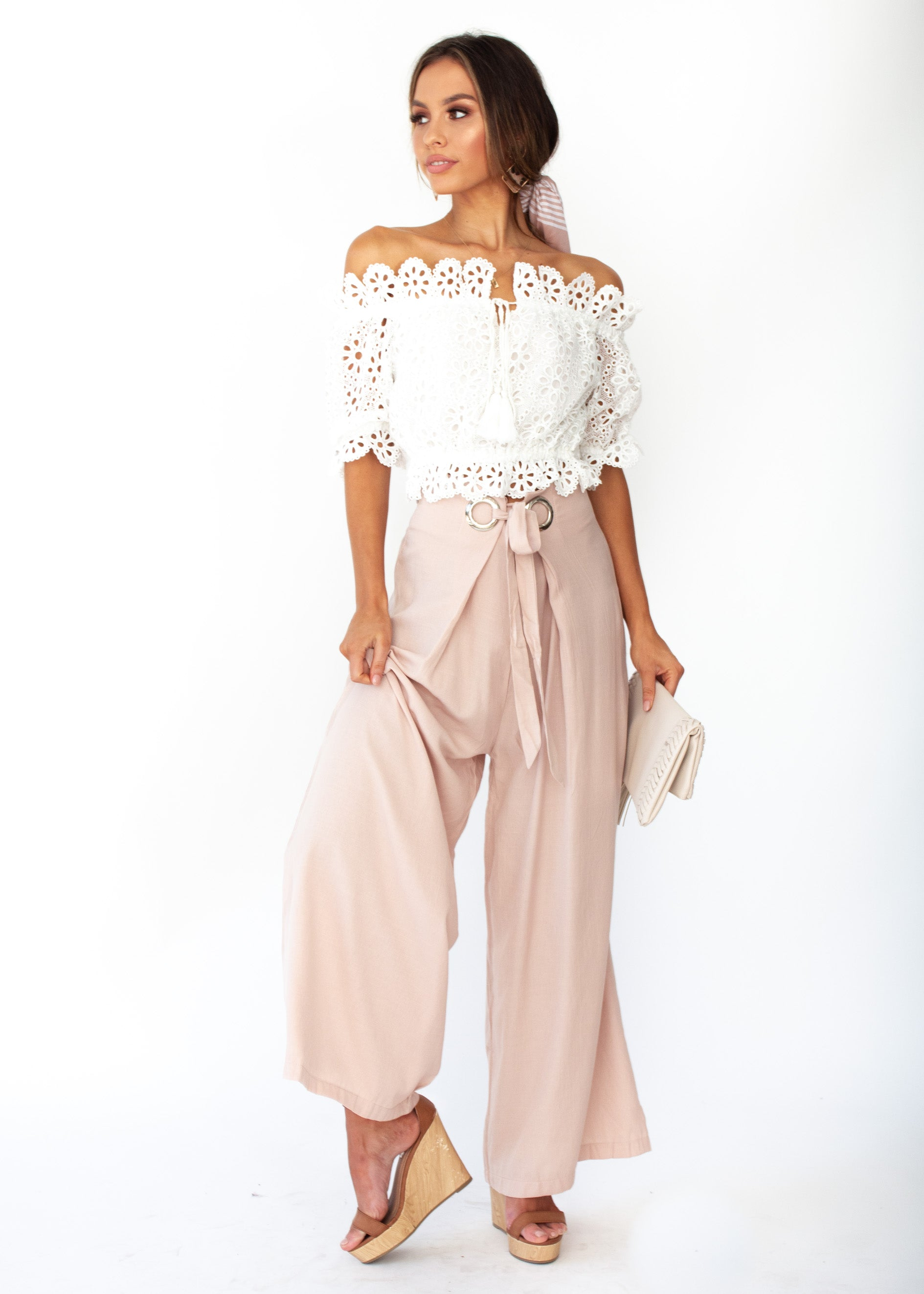 Women's High Energy Wide Leg Pants - Blush