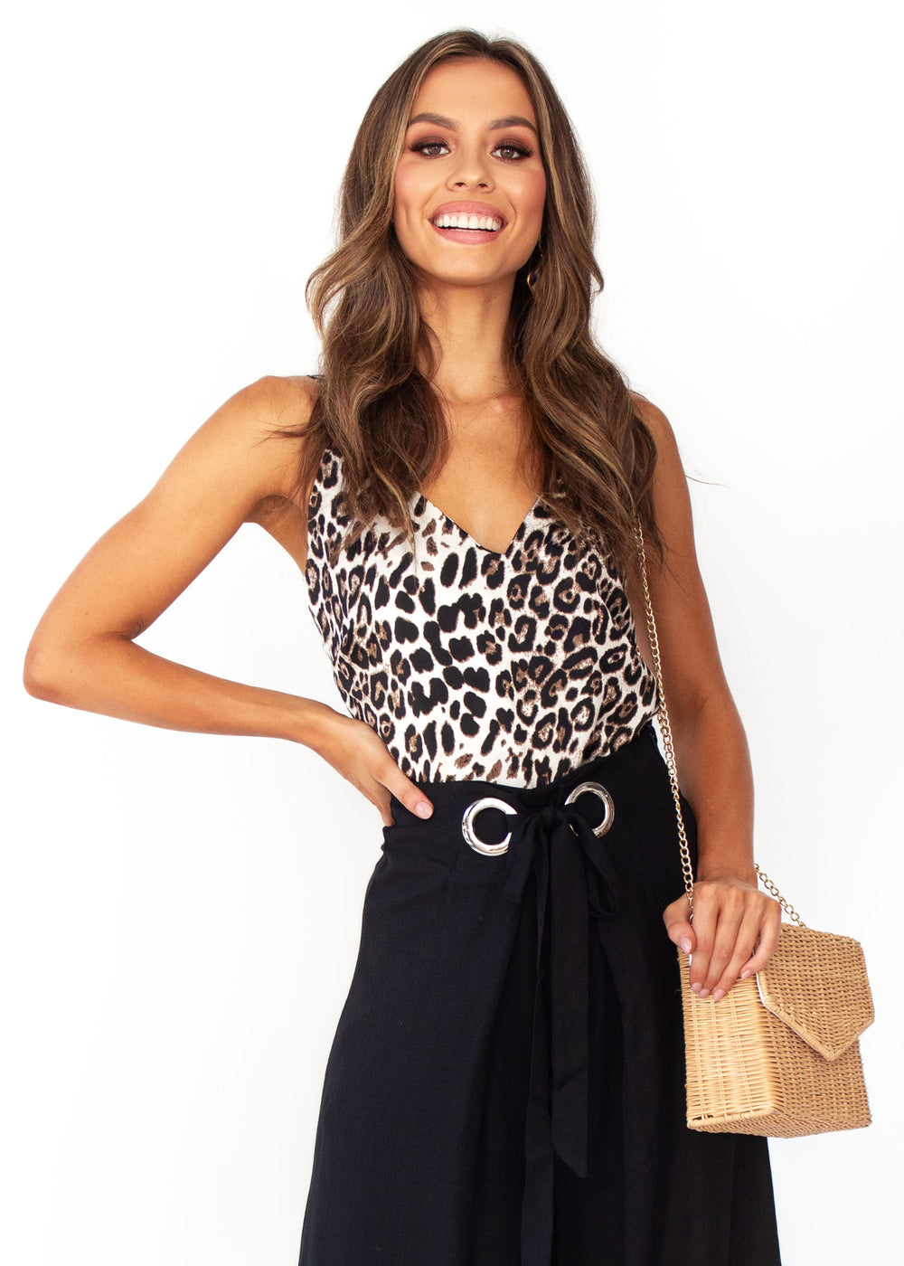 Women's Shine On Cami - Leopard Print