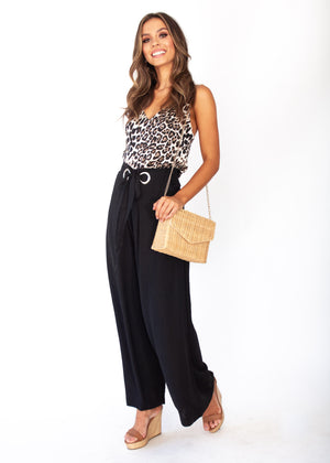 High Energy Wide Leg Pants - Black