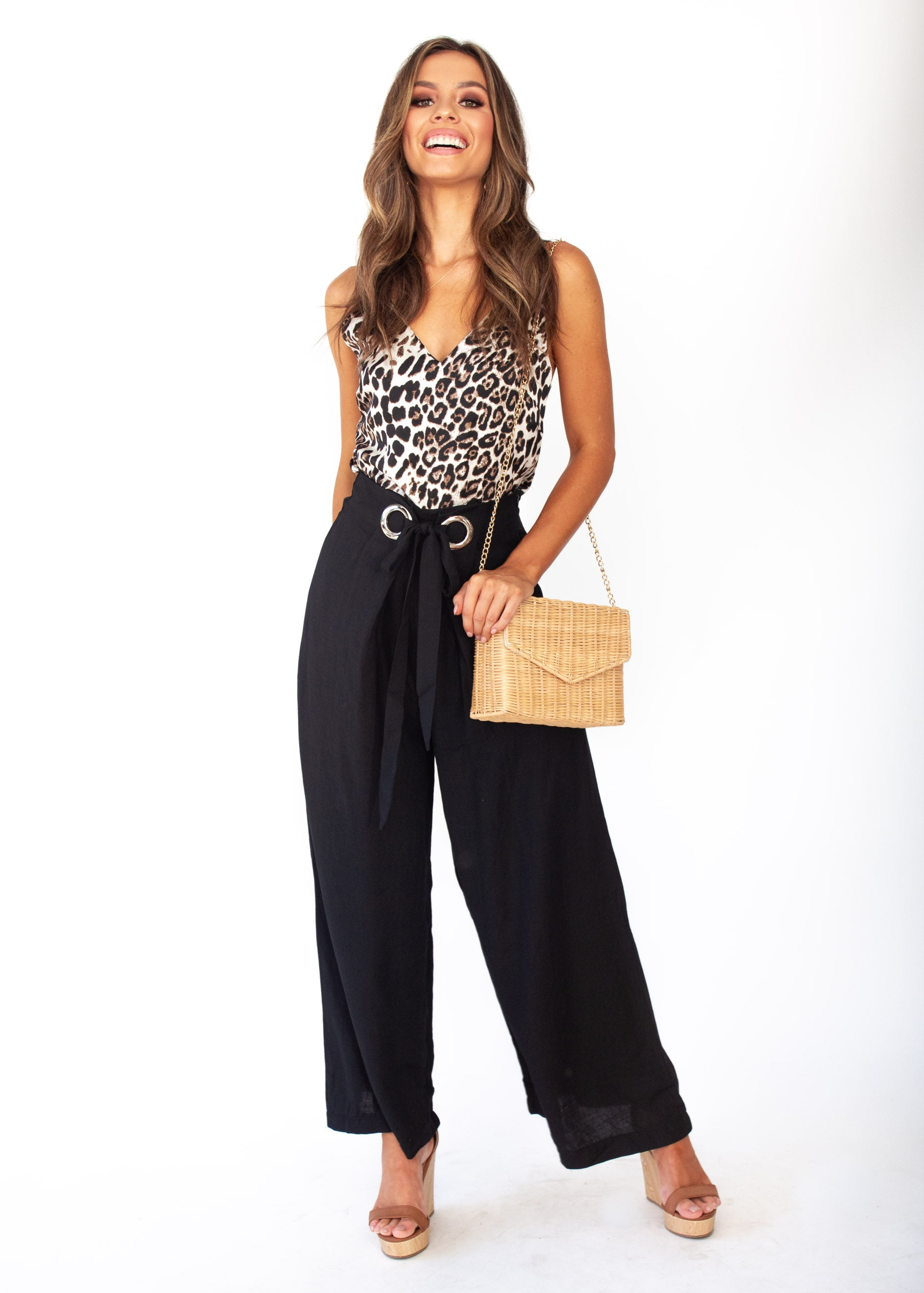Women's High Energy Wide Leg Pants - Black