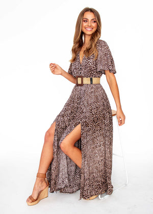 Lia Maxi Dress - Chaser Leopard Print - Jaase