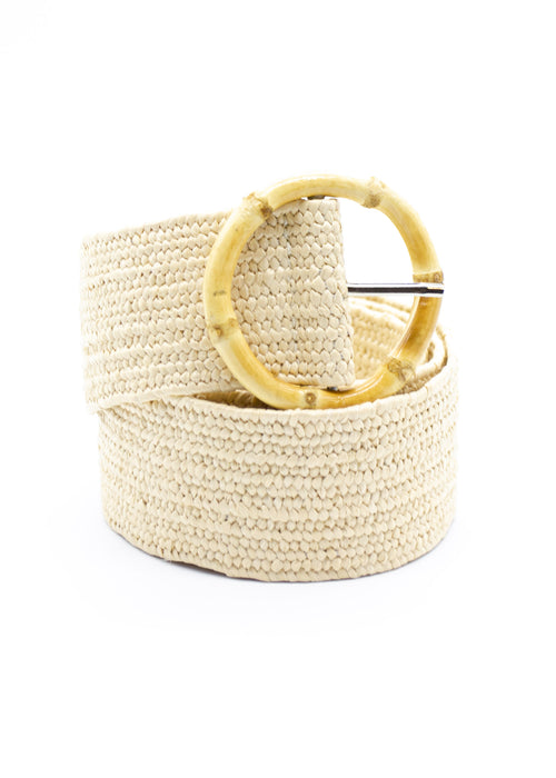 Luna Bamboo Belt - Cream