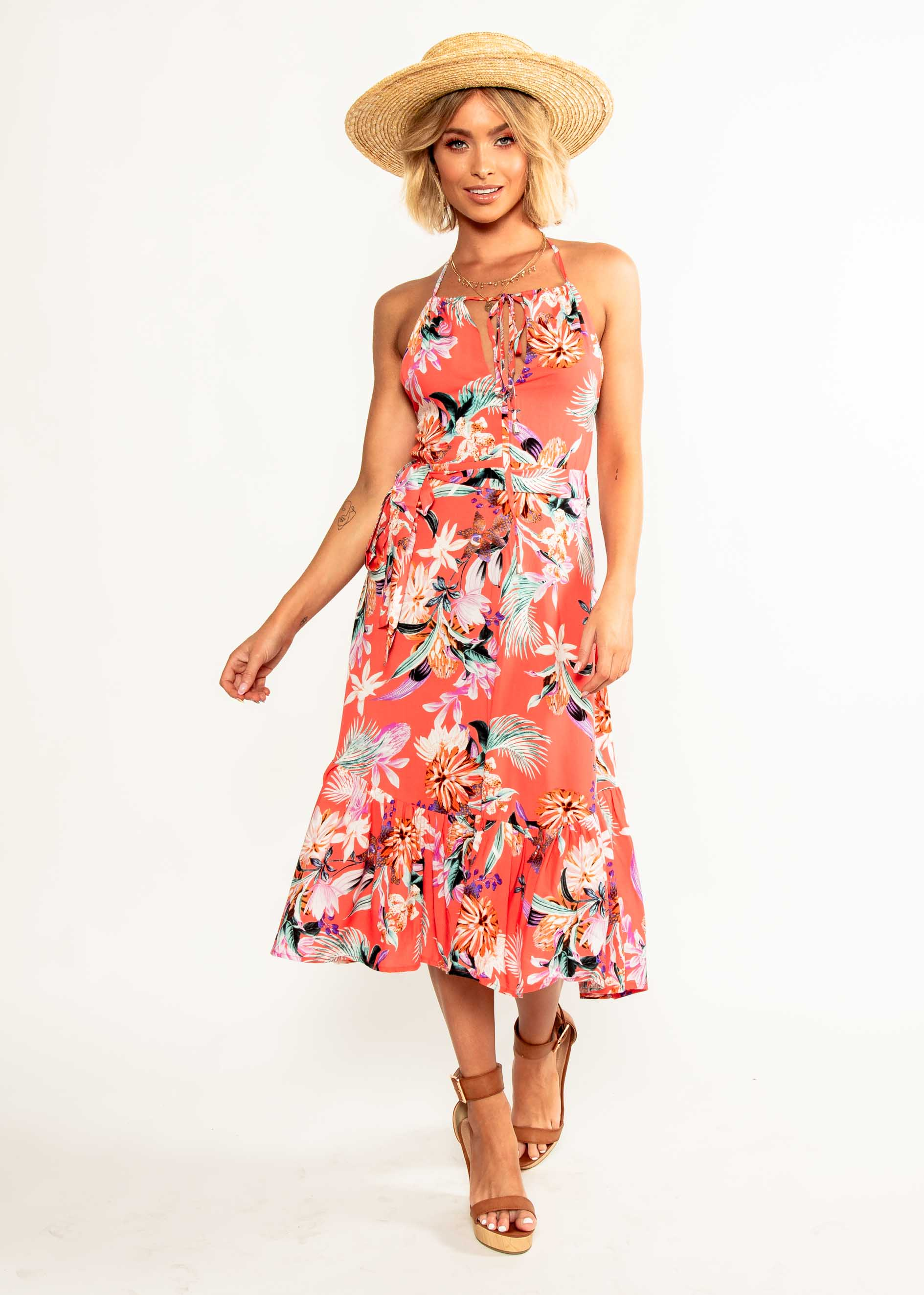 Elite Halter Midi Dress - Brixton