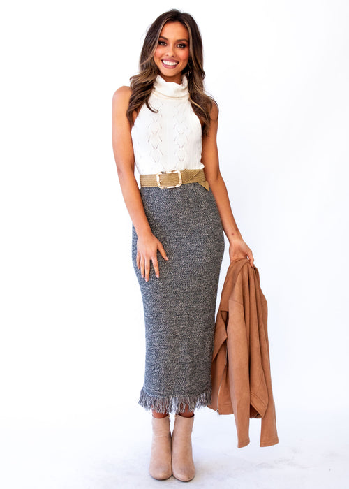 Women's Pampas Knit Maxi Skirt - Emerald