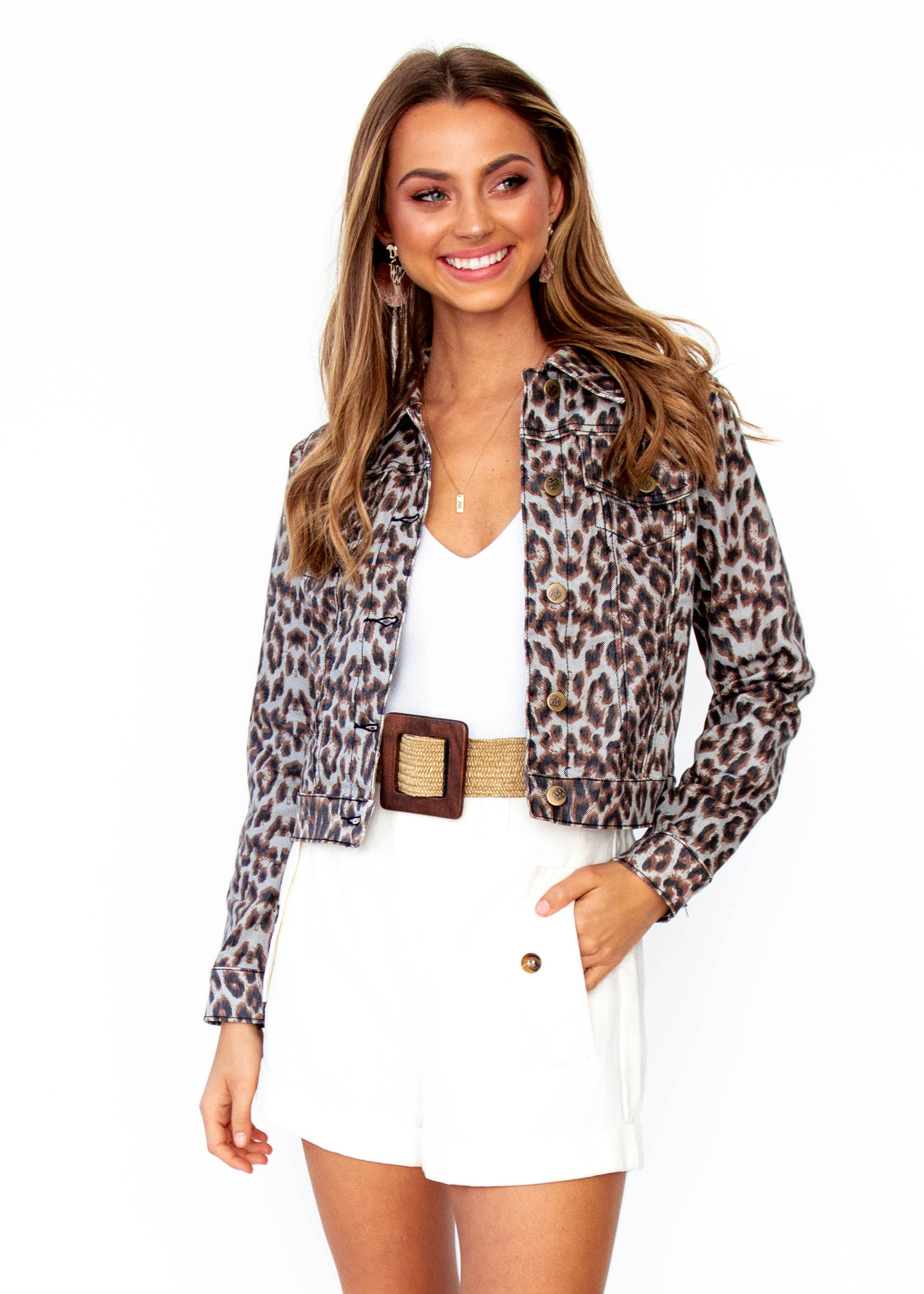 Women's Next To Nothing Jacket - Leopard Print