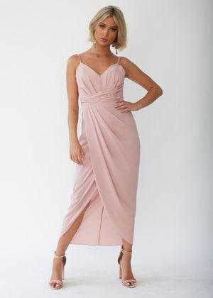 efd1f237e18 Serena Maxi Dress - Blush – Gingham and Heels