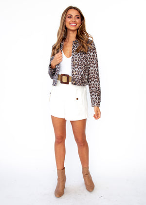 Next To Nothing Jacket - Leopard Print